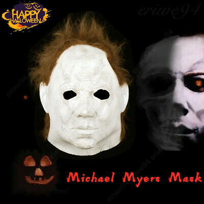 Halloween 2 Mask 1981 Ultimate Michael Myers Cosplay Latex Scary Film Party US