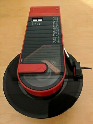 """Audio-Technica AT-727 """"SOUND BURGER"""" Portable Turntable in RED, Working"""