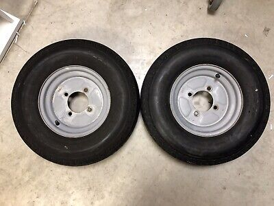 Trailer Wheel And Tyre Assembly 500-10, 4 ply, 115mm. PCD wheel assembly X2