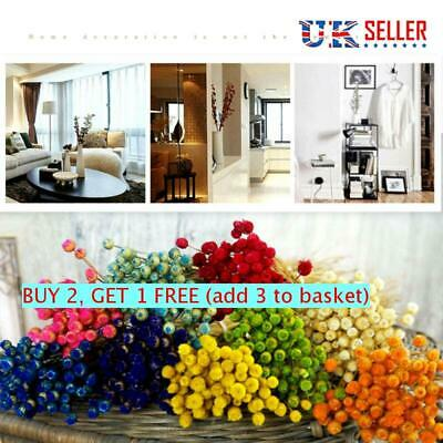 Happy Flower Dried Flowers Bouquets Real Flower Plant Stems Home Wedding Decor