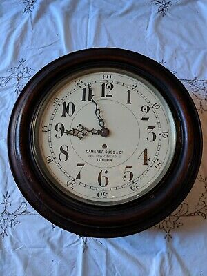 """Antique Fusee Quality Wall Clock, 12"""" Dial , Camerer Cuss & Co London"""