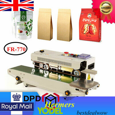 Continuous Plastic Bag Film Band Sealer FR-770 Horizontal Auto Sealing Machine