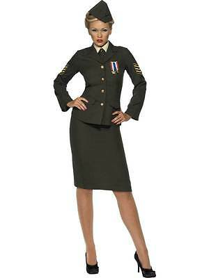 Wartime Officer Costume, Military, Army Forces, Uniforms, Uk Dress 20-22