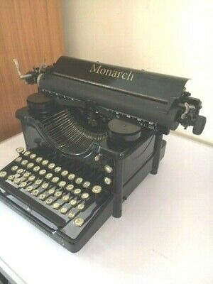 Over 100 year old MONARCH 3. antique typewriter.  Fully restored. Working order.