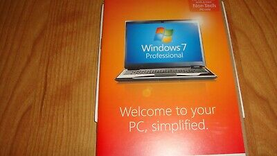Original Windows 7 Professional SP1 32 & 64 Bit full install DVDs New in Package