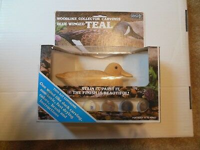 Blue Winged Duck Craft House Woodlike Collector Carving  Ready To Paint/ Stain