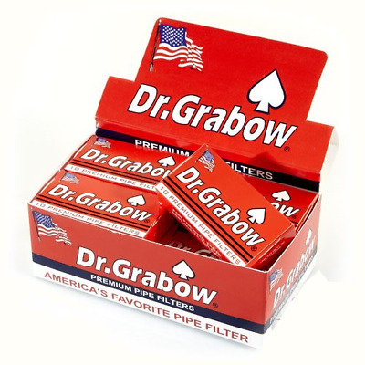 Dr. Grabow Premium Pipe Filter - 6 PACKS - Doctor 10 Filters Per Pack USA Made