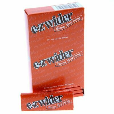E-Z EZ Wider Orange 1 1/4 1.25 Rolling Papers - 5 PACKS - Slow Burning Smooth