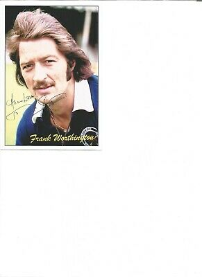 Frank Worthington, signed 6x4 colour photo card,football player EL14