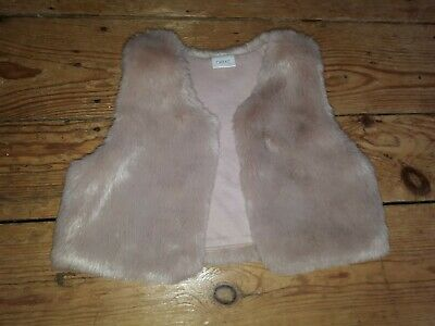 Girls NEXT super Soft winter xmas Fur Furry Gillet Sleeveless Dress Jacket 12-18