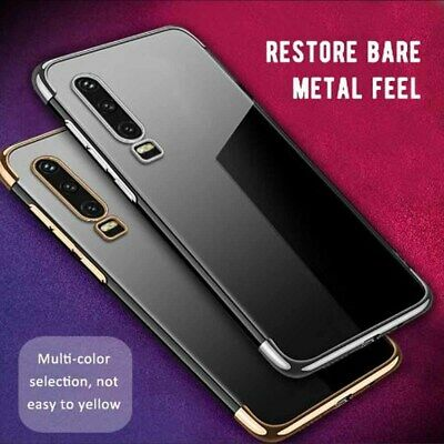 For Huawei P30 P30 Pro P30 Lite Luxury Shockproof Plating Clear Phone Case Cover