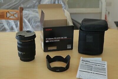 Sigma 17-50mm F2.8 EX DC OS HSM Lens - Canon Fit PERFECT COND Fast UK Dispatch