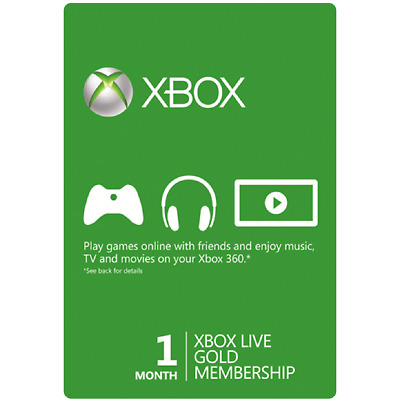 1 Month Xbox Live Gold Membership US (Xbox One/360) Digital Code Fast Delivery