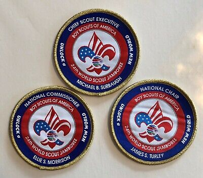 WSJ 2019 24th World Scout Jamboree Patch Set Key Three Morrison Turley Surbaugh