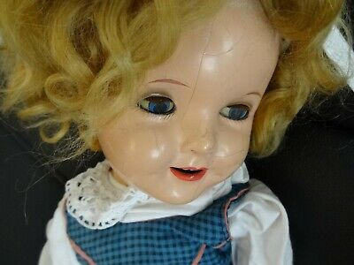 Alte Shirley Temple doll  ca.1933 defekt