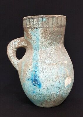 Very Rare Ancient Egyptian Antique Vase  Figurine Vessel Antique Stone Faience