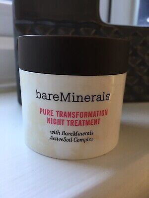 BARE MINERALS PURE TRANSFORMATION NIGHT TREATMENT 4.2g CLEAR