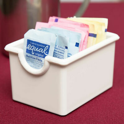 White Plastic Sugar Packet Holder Caddy