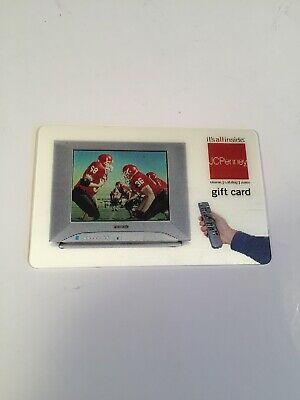 JCPenney Television Football Lenticular Collectible NO VALUE Gift Card Holograph