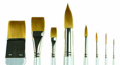 SAA Silver Brushes - Set of Eight + Free Brush Case