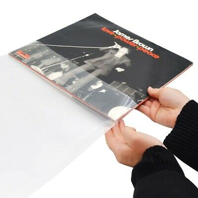 100pcs Resealable Plastic Vinyl Record Outer Sleeves for 12'' LP Gatefold 2LP