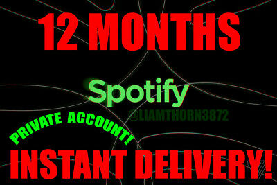 Spotify Premium Lifetime Upgrade 12 Months Private Free Delivery!