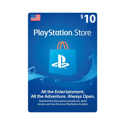 $10 USD PlayStation Network Store Card - FOR USA [Digital Code] Fast delivery