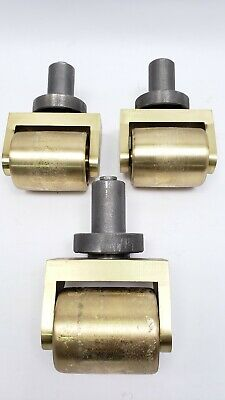 Lot Of 3 Heavy Duty Brass Wheel Casters Piano Casters Grand Baby