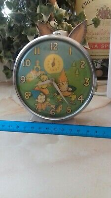 Vintage Noddy Alarm Clock Working and In good condition