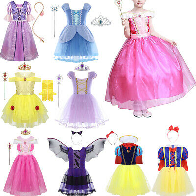 Kids Princess Cosplay Girls Fancy Dress up Party Fairy Tale Costume Outfit Xmas