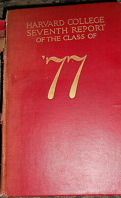 Harvard College Class of 1877 : 1917 Illus HC Owner MA SJC Edward Pierce + Bonus
