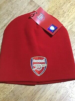 Arsenal fc,knitted core beanie cap,official club merchandise,bnwt.