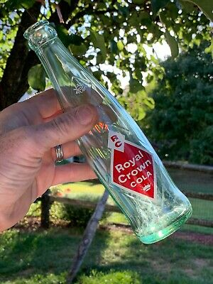 VINTAGE ROYAL CROWN COLA 8 oz CROWN TOP BOTTLE