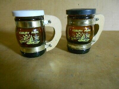 Vintage Asbury Park New Jersey NJ Collectible Souvenir Salt & Pepper Shakers