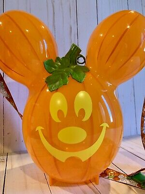 Disneyland Halloween Popcorn Bucket - Mickey Mouse Pumpkin Balloon 2019
