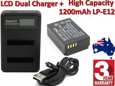 LP-E12 Camera Battery Or Charger For Canon EOS M50, M2, EOS M100 100D TP AU