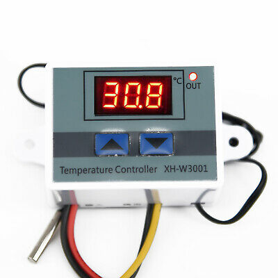LCD Display Digital Temperature Controller 10A Thermostat Switch Probe