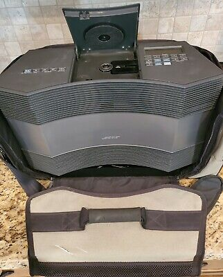 Bose Acoustic Wave Music System CD-3000 with Battery Power Case NO Remote READ