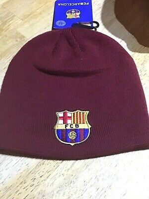 Barcelona f.c,knitted core beanie cap,official club merchandise,bnwt.