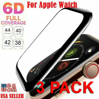 3x Tempered Glass Protector Screen For Apple Watch iWatch 38/40/42/44 mm 4 3 2 1