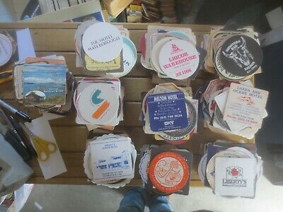 100 plus HOTEL & RESTAURANT  Issued,  COASTERS  collectable  10 lots