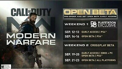 Call of Duty: Modern Warfare Early Access PS4 ONLY BETAs Code INSTANT