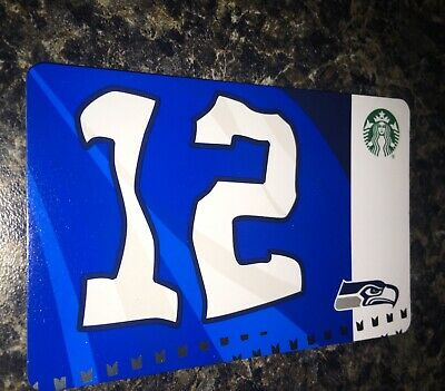 Lot (2) 2019 Limited Edition Starbucks SEATTLE SEAHAWKS 12th Man Flag Gift Card