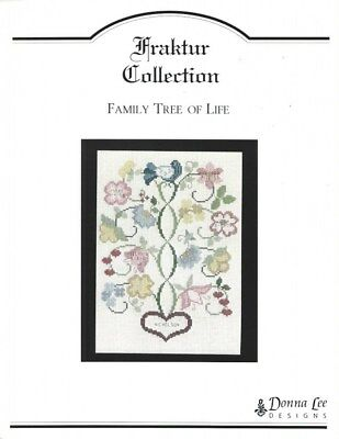 Family Tree of Life Cross Stitch Chart - Fraktur Collection