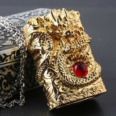 Japanese Handcraft Master Golden Red Ruby Dragon Jacket Zippo Lighter - AU Stock