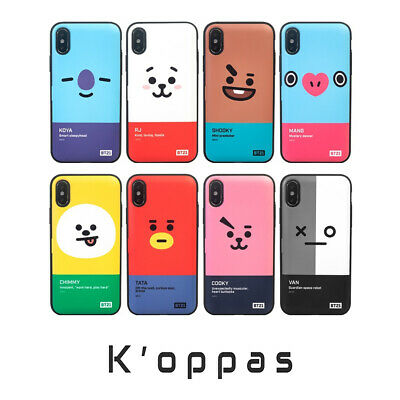 Official BT21 Face Multi Card Bumper Phone Case Cover 100% Authentic + Free Gift