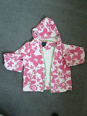 Girls Mini Boden Summer Towelling Hooded Top 7 - 8 Years