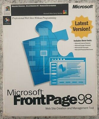 Microsoft FrontPage 98 for Windows with CD Key Code Software & Manual