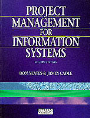 Project Management For Information Systems, Cadle, James, Very Good Book