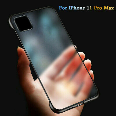 For iPhone 11 Pro Max Ultra Thin Frameless Case Transparent Matte Cover 5 Colors